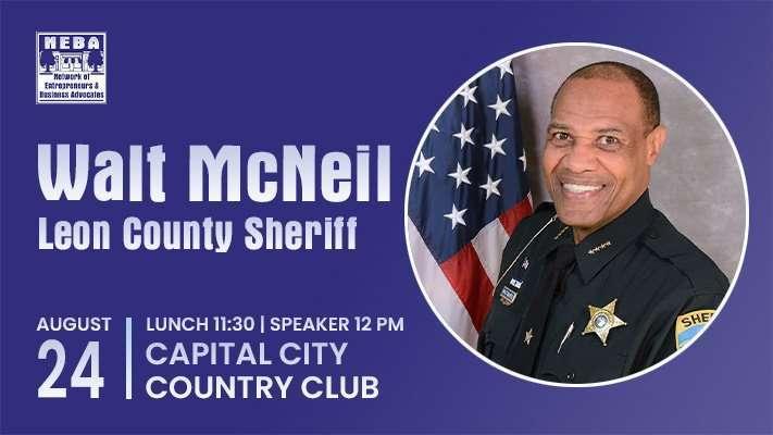 Leon County Sheriff Walt McNeil Speaks at NEBA on Tuesday, August 24, 2021